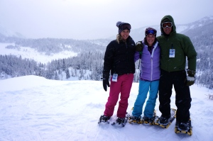 Snowshoeing along the Continental Divide