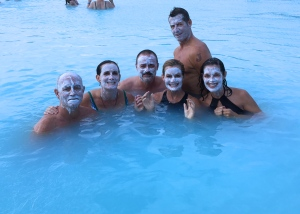 The Blue Lagoon's volcanic mud masks made our skin as soft as babies' butts :)