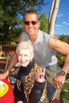 Todd and his mom, Joan, with their tats