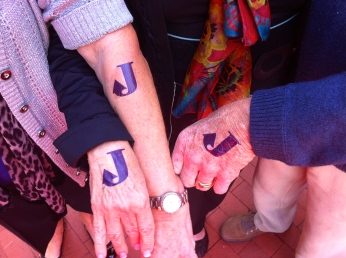 Every guest wore purple 'J' tats