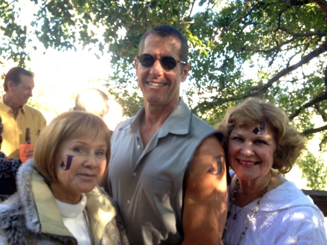 Todd with Jean and Cheryl, who went all in with their tat locales