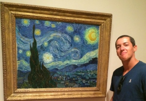 Rex got security a little bent with his close proximity to Vincent's Starry Night